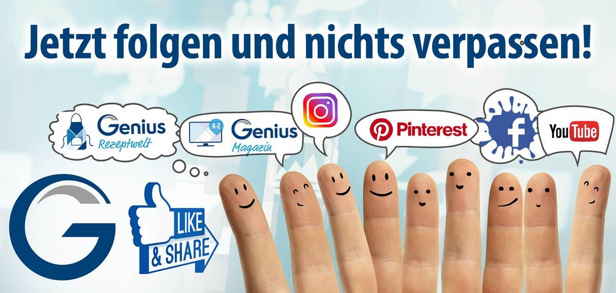 Banner jetzt folgen - Social Media