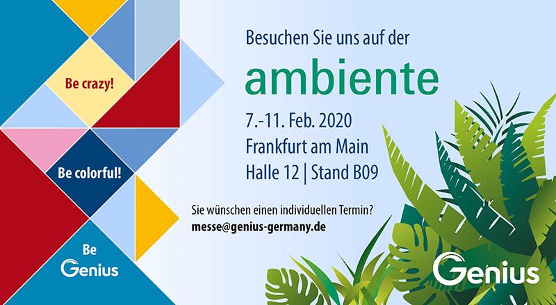 News ambiente 290120 kl - Genius auf der ambiente Frankfurt